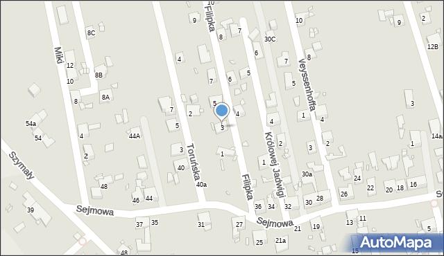 Zabrze, Filipka Maksymiliana, 3, mapa Zabrza