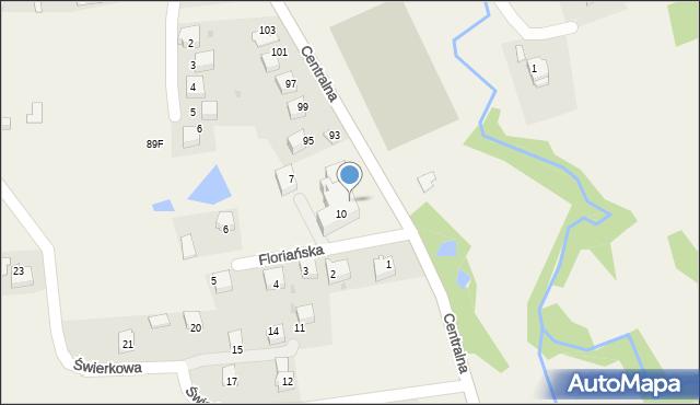 Frydrychowice, Floriańska, 11, mapa Frydrychowice