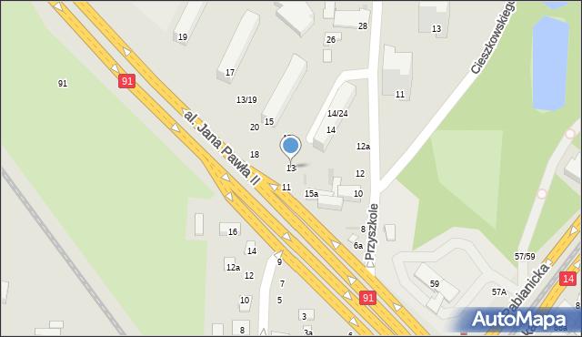 Łódź, Flatta Oskara, 13, mapa Łodzi
