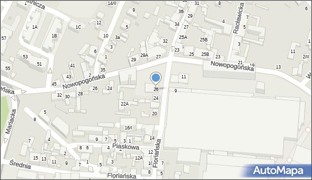 Sosnowiec, Floriańska, 26, mapa Sosnowca