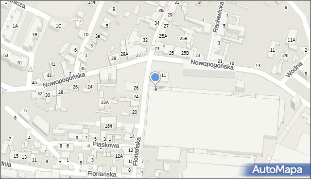Sosnowiec, Floriańska, 9, mapa Sosnowca