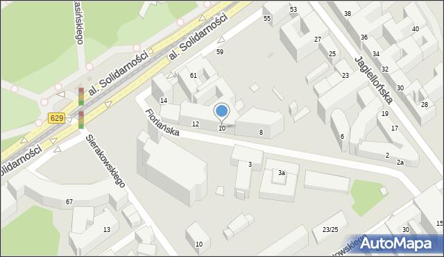 Warszawa, Floriańska, 10, mapa Warszawy