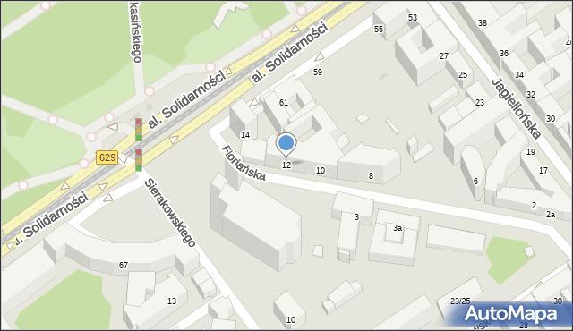Warszawa, Floriańska, 12, mapa Warszawy