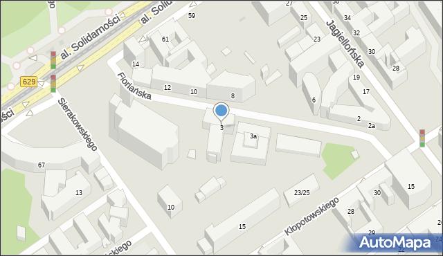 Warszawa, Floriańska, 3, mapa Warszawy