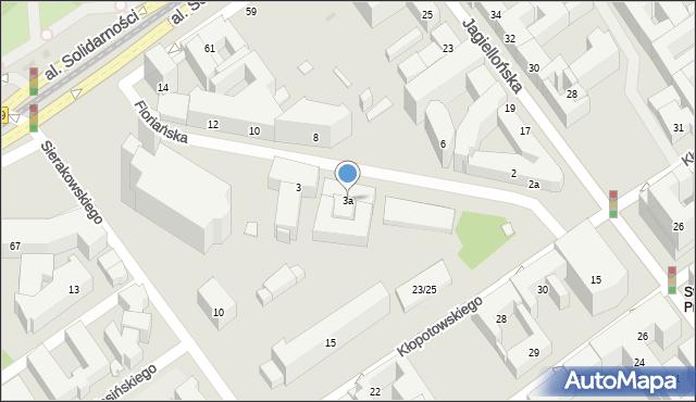 Warszawa, Floriańska, 3a, mapa Warszawy