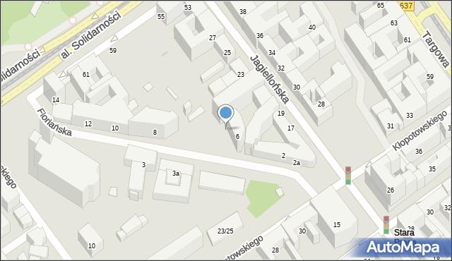 Warszawa, Floriańska, 6l, mapa Warszawy
