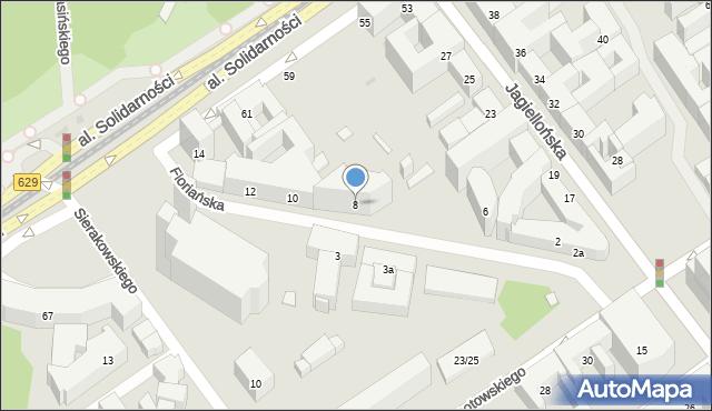Warszawa, Floriańska, 8, mapa Warszawy