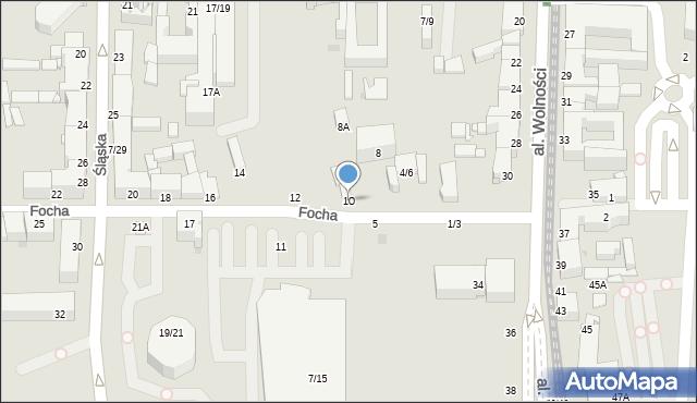 Częstochowa, Focha Ferdynanda, marsz., 10, mapa Częstochowy