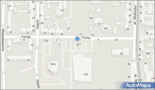 Częstochowa, Focha Ferdynanda, marsz., 11, mapa Częstochowy