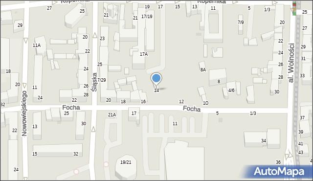 Częstochowa, Focha Ferdynanda, marsz., 14, mapa Częstochowy
