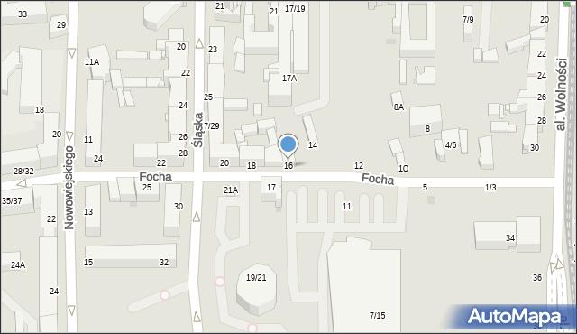 Częstochowa, Focha Ferdynanda, marsz., 16, mapa Częstochowy
