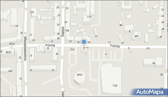 Częstochowa, Focha Ferdynanda, marsz., 17, mapa Częstochowy