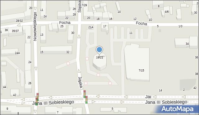 Częstochowa, Focha Ferdynanda, marsz., 19/21, mapa Częstochowy