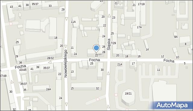Częstochowa, Focha Ferdynanda, marsz., 22, mapa Częstochowy