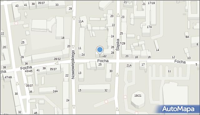Częstochowa, Focha Ferdynanda, marsz., 22A, mapa Częstochowy