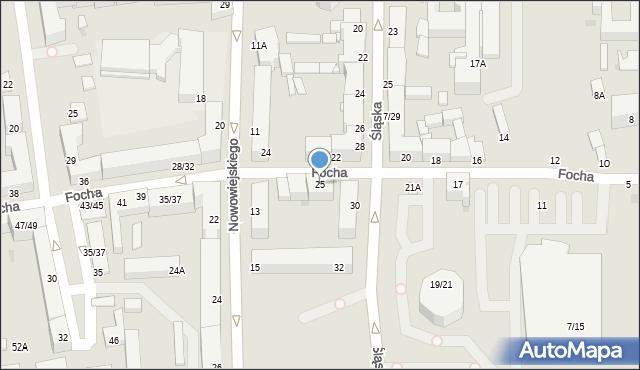 Częstochowa, Focha Ferdynanda, marsz., 25, mapa Częstochowy
