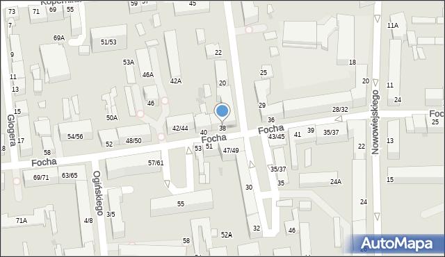 Częstochowa, Focha Ferdynanda, marsz., 38, mapa Częstochowy