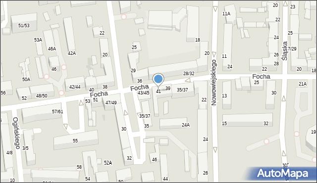 Częstochowa, Focha Ferdynanda, marsz., 41, mapa Częstochowy