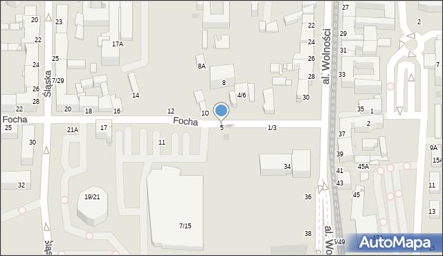 Częstochowa, Focha Ferdynanda, marsz., 5, mapa Częstochowy