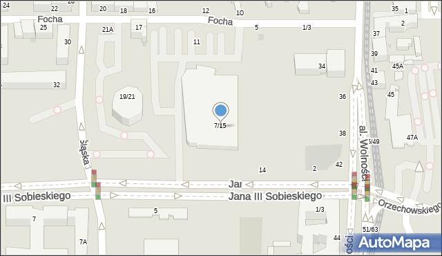 Częstochowa, Focha Ferdynanda, marsz., 7/15, mapa Częstochowy
