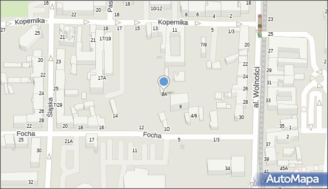 Częstochowa, Focha Ferdynanda, marsz., 8A, mapa Częstochowy