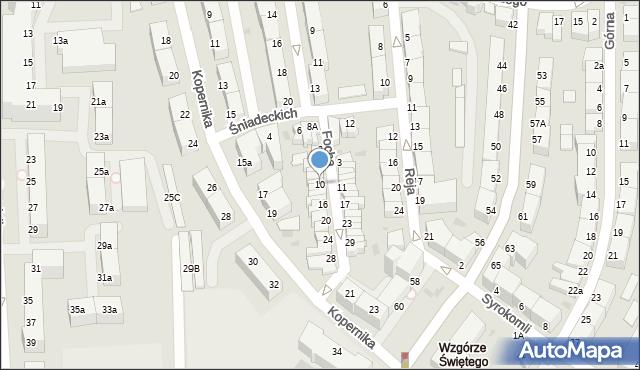 Gdynia, Focha Ferdynanda, marsz., 10, mapa Gdyni