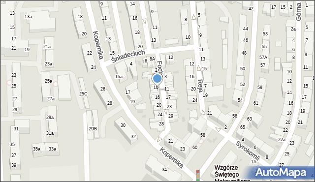 Gdynia, Focha Ferdynanda, marsz., 12, mapa Gdyni