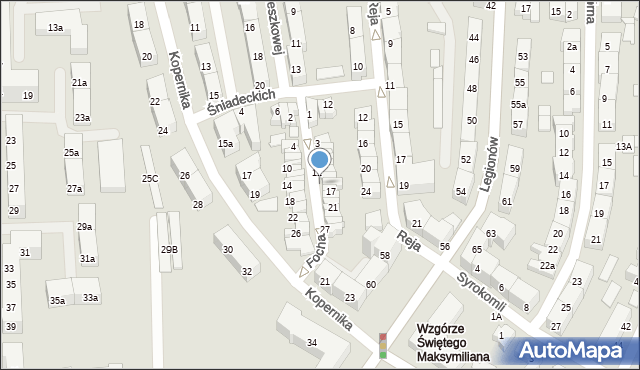 Gdynia, Focha Ferdynanda, marsz., 15, mapa Gdyni