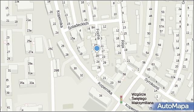 Gdynia, Focha Ferdynanda, marsz., 20, mapa Gdyni
