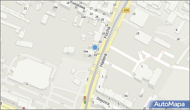 Grudziądz, Focha Ferdynanda, marsz., 24, mapa Grudziądza