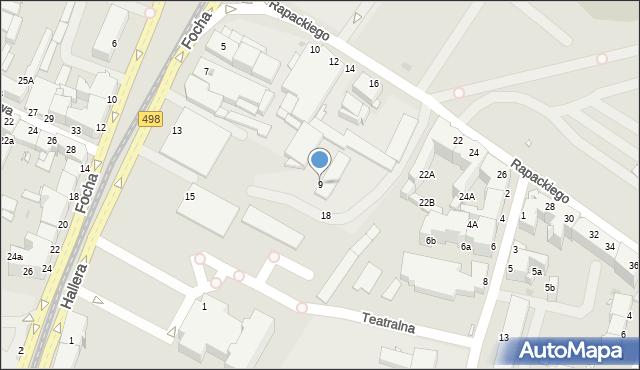 Grudziądz, Focha Ferdynanda, marsz., 9, mapa Grudziądza