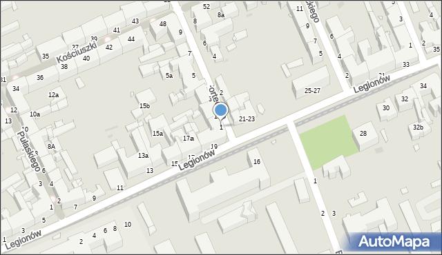 Grudziądz, Forteczna, 1, mapa Grudziądza