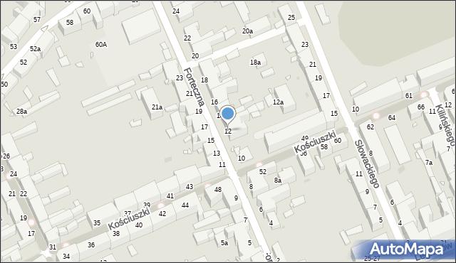 Grudziądz, Forteczna, 12, mapa Grudziądza