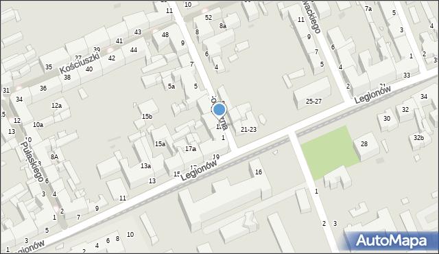 Grudziądz, Forteczna, 1a, mapa Grudziądza