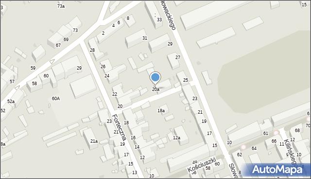 Grudziądz, Forteczna, 20a, mapa Grudziądza