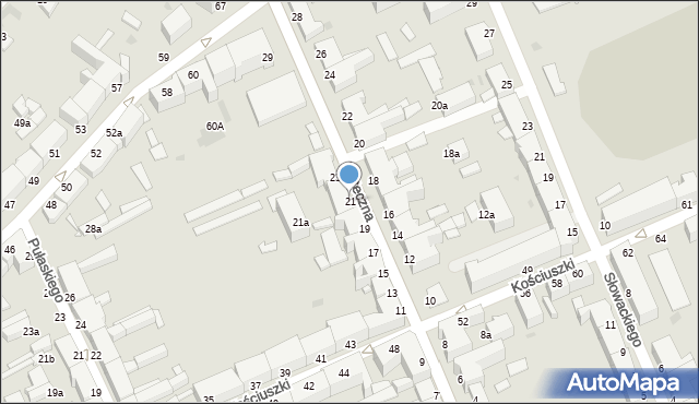 Grudziądz, Forteczna, 21, mapa Grudziądza