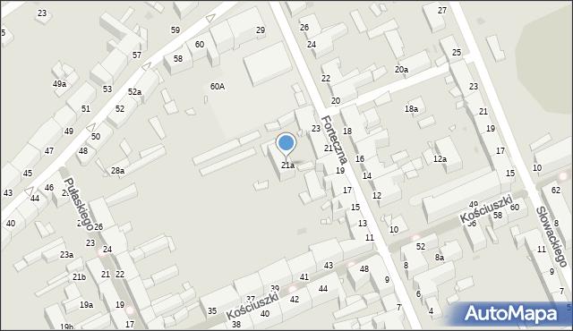 Grudziądz, Forteczna, 21a, mapa Grudziądza