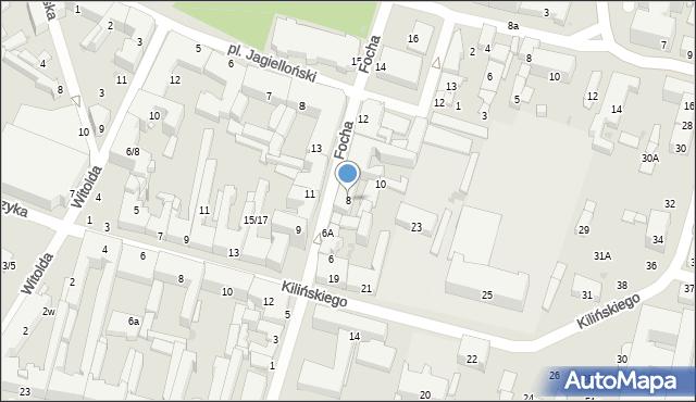 Radom, Focha Ferdynanda, marsz., 8, mapa Radomia