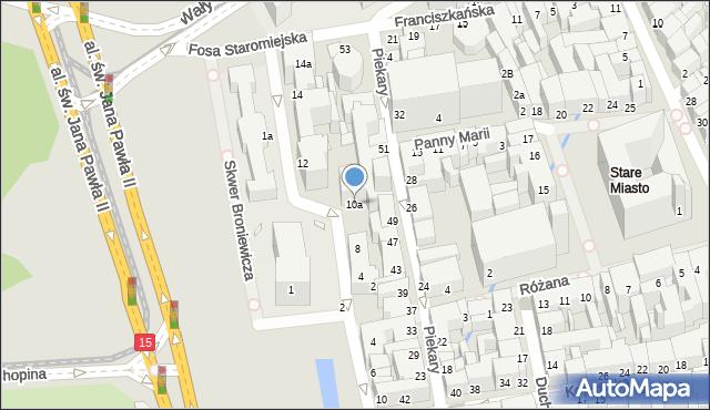 Toruń, Fosa Staromiejska, 10, mapa Torunia