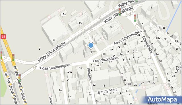 Toruń, Fosa Staromiejska, 3, mapa Torunia