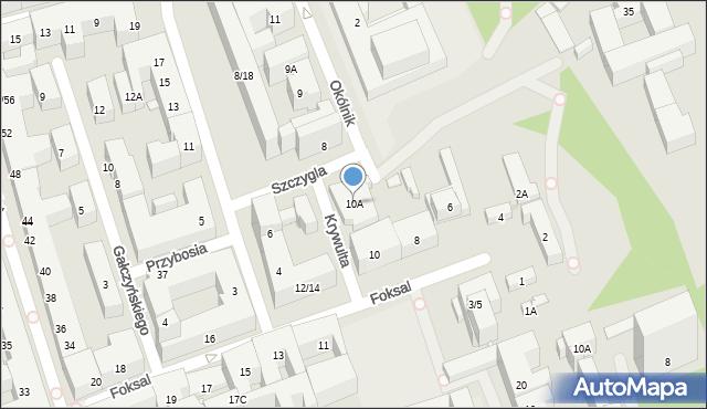 Warszawa, Foksal, 10A, mapa Warszawy