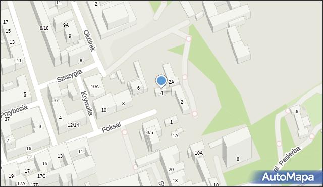 Warszawa, Foksal, 4, mapa Warszawy