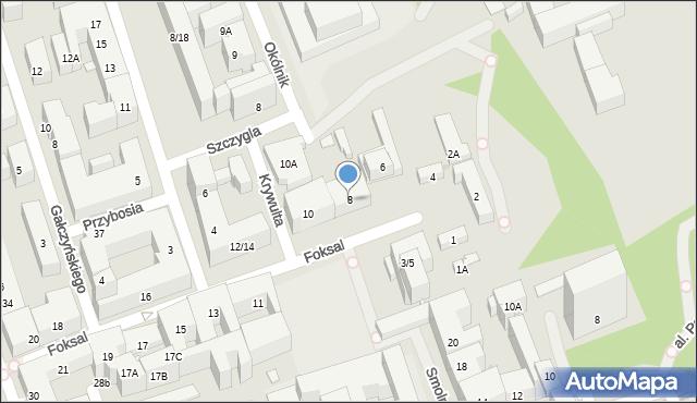 Warszawa, Foksal, 8, mapa Warszawy