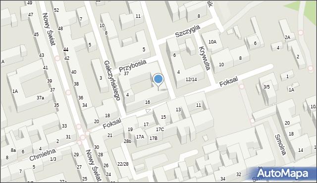 Warszawa, Foksal, 16p, mapa Warszawy