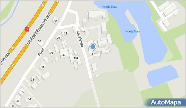 Warszawa, Fosa, 17, mapa Warszawy