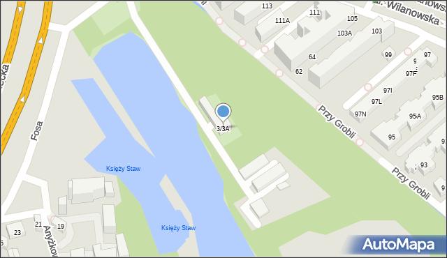 Warszawa, Fosa, 3/3A, mapa Warszawy