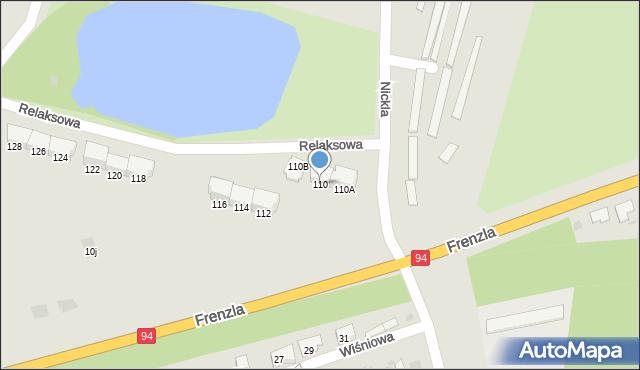 Bytom, Frenzla Jana, ks., 110, mapa Bytomia