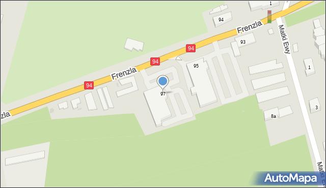 Bytom, Frenzla Jana, ks., 97, mapa Bytomia