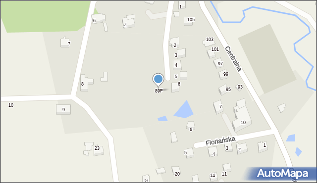 Frydrychowice, Frydrychowice, 96, mapa Frydrychowice