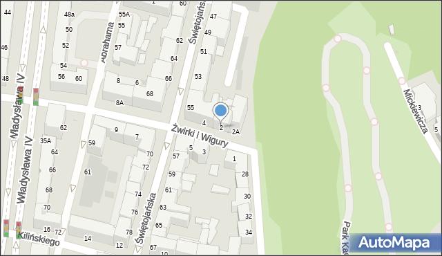 Gdynia, Franciszka Żwirki i Stanisława Wigury, 2, mapa Gdyni
